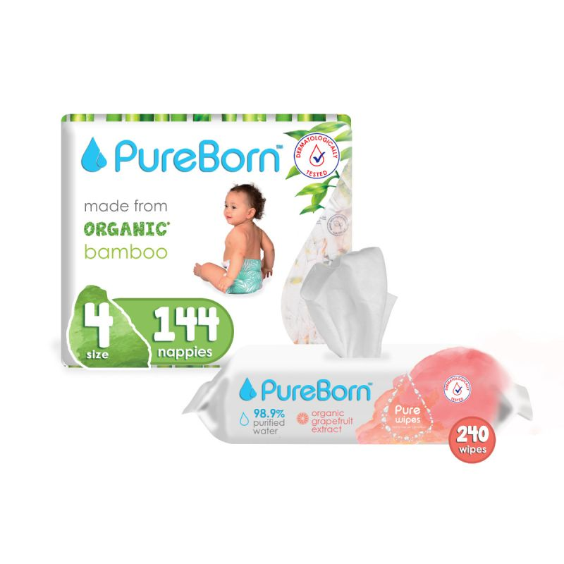 PureBorn Nappies Monthly Subscription-3 months-NB