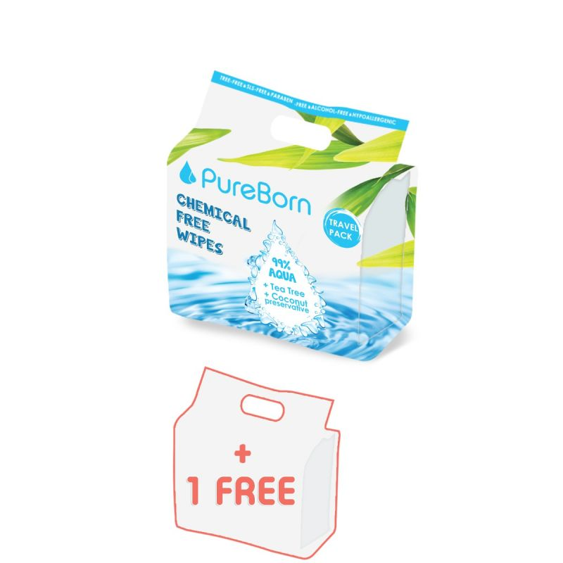 8packs x 10's Travel Pack - Natural Baby Wipes