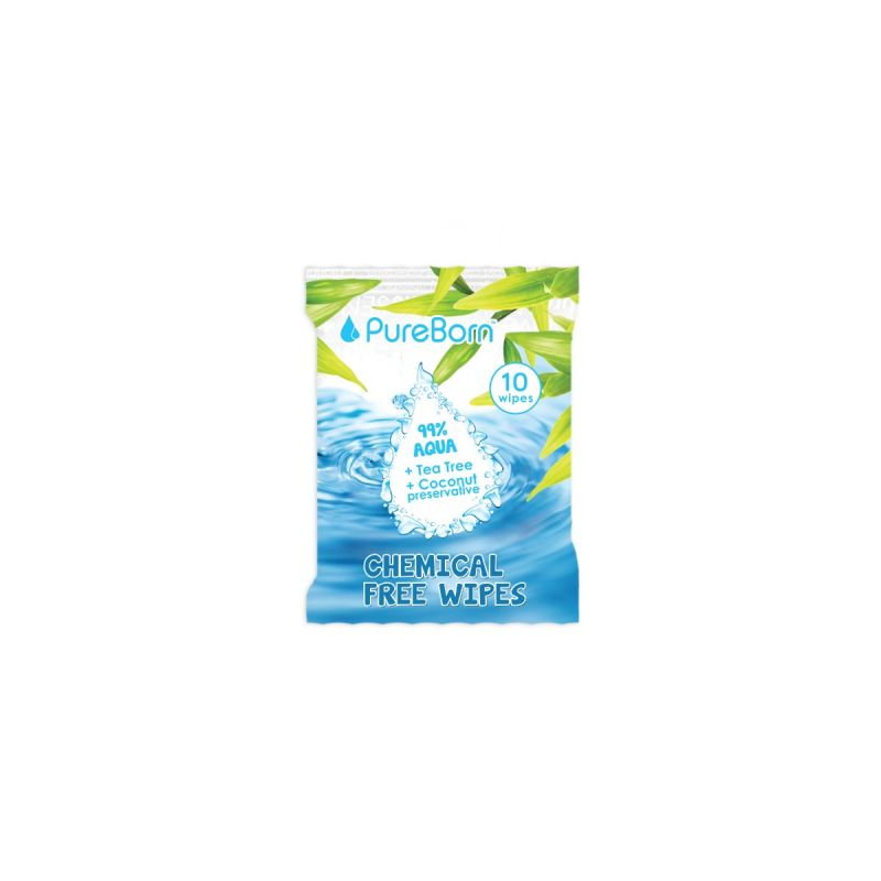 10's Travel  Pack- Natural Baby Wipes