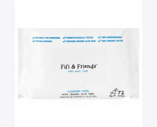 Fifi & Friends Cleansing Baby Wipes with Organic Aloe Vera 72 cl