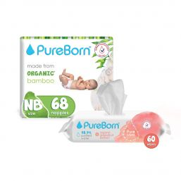 Single Value Bundle (2 Single Nappies + 1 60's Grapefruit Wipes)